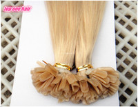 Mix Color 100g Straight 7A grade Nail u tip hair extensions 100s Top quality double drawn brazilian pre bonde remy human hair #613 color free shipping