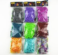 Wholesale Temperature Change Color rubber Bands Loom Bands S clips hook