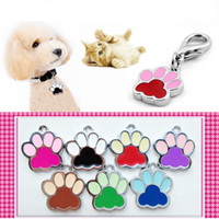 Wholesale High Quality Color S Size Colorful Footprint Type Pet Dog Cat Tag ID Pet Pendant Dog Accessory Hotsale Fit Pet Collar