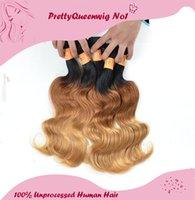 Nuevo llega el pelo brasileño de la Virgen del pelo brasileño de las extensiones 1b / 4/27 de Ombre del pelo brasileño del pelo 6A que remolina al pelo humano Remy 27