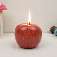 Wholesale Christmas creative simulate fruit apple cute candles boys girl gift set cm hot sale romantic Christmas Eve