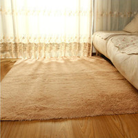 Wholesale 2015 New arrival Hot sale best quality Fashion Living Dining Bedroom Car Flokati Shaggy Ivory Wool Rug Anti skid Carpet Seatma