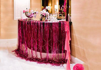 backdrop bar - Metallic Sparkly tassel Laser rain curtain party wedding Backdrop decoration cmX100cm room birthday festive christmas bars decor supplies
