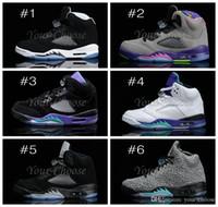 man and women - New Retro V Basketball Shoes For Men Women Training shoe Womens athletics Basketball Shoe Space Jam Navy White Silver