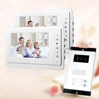 apartment free - Brand New Apartment Intercom System White Monitor Wired quot Color Video Door Phone intercom System for house