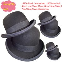 Stingy Brim Hat adult rain suit - ladies and mens bowler hat new fashion wool black felt suit for winter fall spring with leater sweatband and fedora