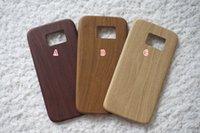 apple skin fiber - Wood Wooden Grain PU Leather Micro fiber PC Soft Cases For Iphone S Plus I6 S Samsung Galaxy S6 Edge A3 A5 A7 TPU Skin cover