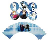 cupcake toppers - Frozen paper cupcake wrappers and toppers set baby party birthday shower supplies styles party decorations new
