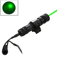 aim rifle scopes - HJ mW nm Green Beam Laser Optical Sight Rifle Scopes Aiming Device with Mount for Hunting Black