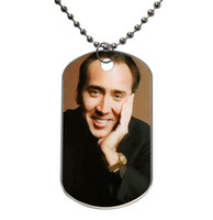 Light-weight Aluminum aluminum cages pet - Custom Fashionable Nicolas Cage hot sales Design Dog Tag Necklace Aluminum Tag for Animal Pets Tag