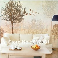 autumn free wallpaper - Custom Mural Eco friendly autumn trees Wallpapers D wall art decal Kids Living room TV Sofa background