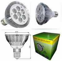 aviation lamps - High Brightness E27 PAR30 W LED Spotlight CREE V V V Aviation aluminum LED downlight Bulb lamp light CE RoHs