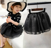 Cheap Fashion Tulle Lace Overskirts For Big Children Girls Korean