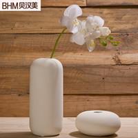 Wholesale Creative flower vase modern minimalist furnishings marriage room ceramics minimalist small vase of white flowers into thread