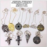 american fighter - Star Wars TIE Fighter Pendant Necklace New Mix Styles Gold Filled Star Wars Spacecraft Fighter Pendant Necklace Chain Jewelry in Bulk