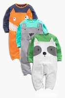baby moles - Baby onesies Fox Mole Dog Cartoon Boy Girl One Piece Long Sleeve Romper Clothing M
