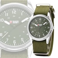 green army men - SHARK ARMY Fashion Green Stainless Steel Luminous Slim Hrs Analog Nylon Mens Sport Quartz Wrist Military Men Luxury Watch SAW034