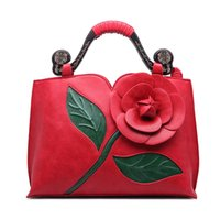 alice designer - Alice Rose New Classic Leather Brand Handbag With Flowers China Folk Style Lady Shoulder bag Designer Handbags High Quality