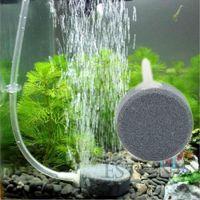 Wholesale New cm Disc Hydroponics Diffuser Bubble Airstone Aquarium Fish Tank Pump Sales