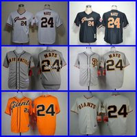 Wholesale 2015 New NEW Arrival San Francisco Giants Jersey Willie Mays Gray SF Throwback White Black Baseball Jersey Cheap
