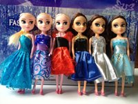 baby doll - 2016 Lovely In Stock Christmas Gift Frozen Elsa Anna Princess Dolls Figure Toys cm With Box Package Baby Children Toys Empress Elsa
