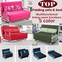 Wholesale 100 cotton sofa bed high resilience foam sponge sofa folding sofa set multifunction living room sofa metal bed color