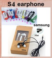 Wholesale s4 Mic and volume control Stereo Headsets In Ear Earphone Earbuds Headphones for Samsung note3 N7100 i9300 i9600 S5 S4 S3 color EAR026
