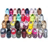 Unisex baby crib sizes - Tassels Color PU Leather Baby Shoes Moccasin Newborn Shoes Soft Infants Crib Shoes Sneakers First Walker