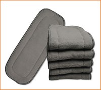 babyland diapers - 2015 New Babyland Diaper inserts layers Bamboo Charcoal inserts Baby Changing Pads Baby Diapers