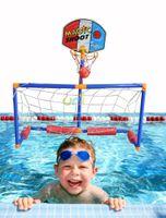 basketball net backboard - New Arrival Poolside Basketball Hoop Portable Pool Goal Team Outdoor Sport Toy Swimming Water Net Backboard Games Xmas Gift Toys