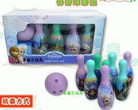 Wholesale NEW FROZEN bowling ball suit Snow and ice colors Sports toys children Toy bowling