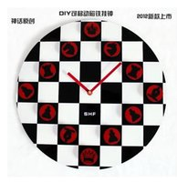 analog chess clock - Original concept fashion creative DIY fun chess clocks hanging clock personalized magnet in stock