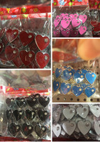 Wholesale New multicolor love heart Metal Charms Jewelry Making Pendants