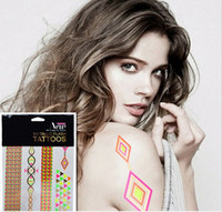 beautiful tattoos women - New Arrival Beautiful amp Colorful Fluorescent Tatto and Flash Sex Temporary Gold Metallic Tatuajes Tattoos for Women and Girls