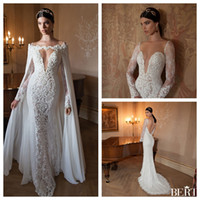 Cheap Reference Images Mermaid Wedding Dresses Best Ruffle Elbow Bridal Gowns