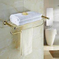 Wholesale Contemporary Golden Crystal Brass Towel Rack