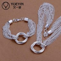 Wholesale Nigerian Wedding African Bridal Jewelry Set Sterling Silver Imitation Jewellery Accessories Multi Chain Sets For Women S338