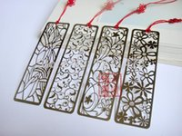 Wholesale Vintage gift stainless steel metal bookmark for books hollow flowers snowflake Chinese bookmark favors