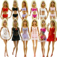 accessories for bra - Sets Sexy Doll Piece Lingerie Suits For Barbies Outfits Dress Bra Underwear Lace Nightwear Pajamas