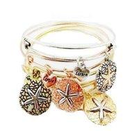 achat en gros de bracelets en alliage d'or-Alex and ani bangles Femmes Pendentifs AlexAni starfish Pendentif en alliage Bracelets vintage Alex et Ani Bracelets Bracelets pulseras CC16