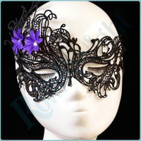 sexloves - Elegant Purple Floral Lace Hollow Flirt Blindfold Eye Mask for Party Erotic Lingerie Costumes Accessories