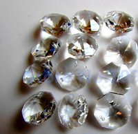 Wholesale 14mm Clear Crystal Octagon Beads In One Hole
