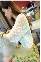 japanese fashion clothing - Blusas Cardigan Kimonos Japanese Clothes Summer Women s Vogue Tops Solid White Half Sleeve Lace Embellished Loose Kimono Z103