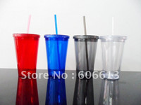 acrylic tumbler with straw - ml plastic double wall tumblers with straw OZ acrylic Color tumblers
