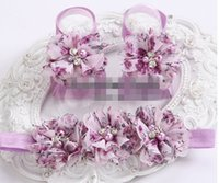 barefoot dreams - 30 off Dream High house Baby girl fashion Headband Barefoot Sandals set Rhinestone pearl Boutique rosset Floral shoes Headband set