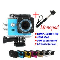 Wholesale Gopro Style Full HD DVR Action Camera W9 wifi P Waterproof M Mini DV Wide Angle WIFI monopod