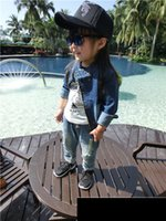 Wholesale 15 holes in jeans child Korean children pants baby pants boys and girls trousers trousers tide wild spring and summer WG226
