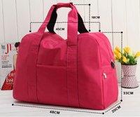 Wholesale 2016Women s Waterproof Luggage bags folding travel bag gym sport handbag size cm color men bags