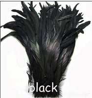 Wholesale Rooster tail feather Black color DIY feather wedding Feathers cm inch Fashion New Clothes feathers accories
