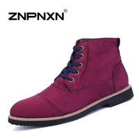 Wholesale New Men Winter Leather Boots ZNPNXN Brand Suede Boots Men Winter Shoes Zapatos Sapatas Botas Masculinas